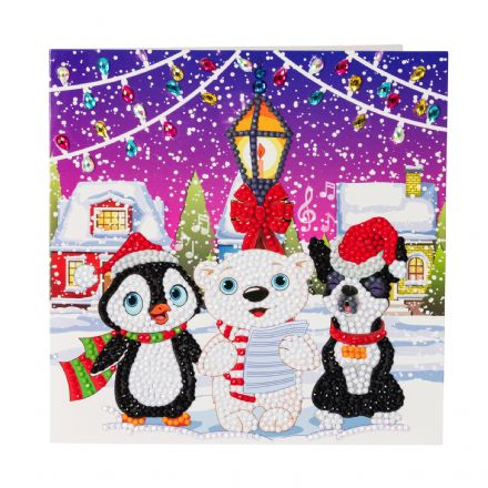 Crystal Art D.I.Y Carol Singers Christmas Card kit